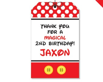 Mickey Mouse Party - Personalized DIY printable favor tags