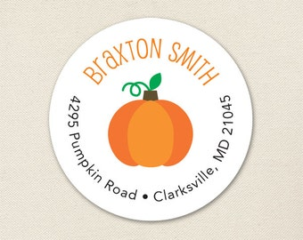 Pumpkin Address Labels / Halloween Address Labels - Sheet of 24