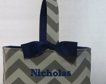 Easter Basket fabric Bin with Name