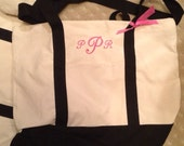BRIDESMAID TOTES - Set of 5 Personalized Embroidered Custom Canvas Tote Bags