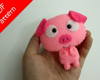 Pig Plush PDF Pattern -Instant Digital Download