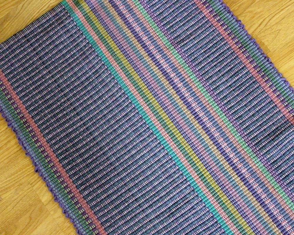 Cotton Rag Rug 2 x 3 Purple and Blue Kitchen by