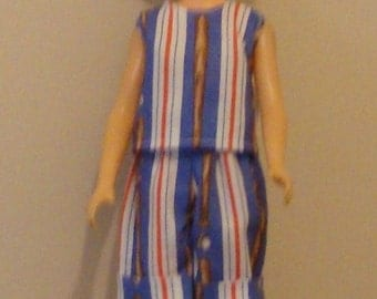 Baseball top and shorts for Barbie size doll