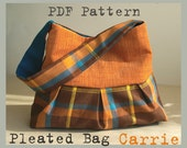 PDF Sewing Pattern to make Pleated Bag CARRIE easy sewing tutorial