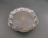 Rectangular Silver Footed Serving Tray