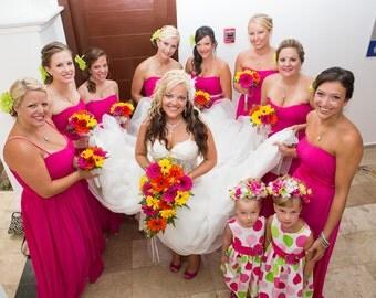 5 Bridesmaid Crystal necklaces for 5 bridesmaids
