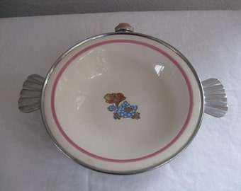 Bartsch Mfg. Co. Chicago Baby Feeding Dish. Hippopotamus Motif.