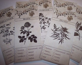 The Natural Apothecary Labels Set of 23