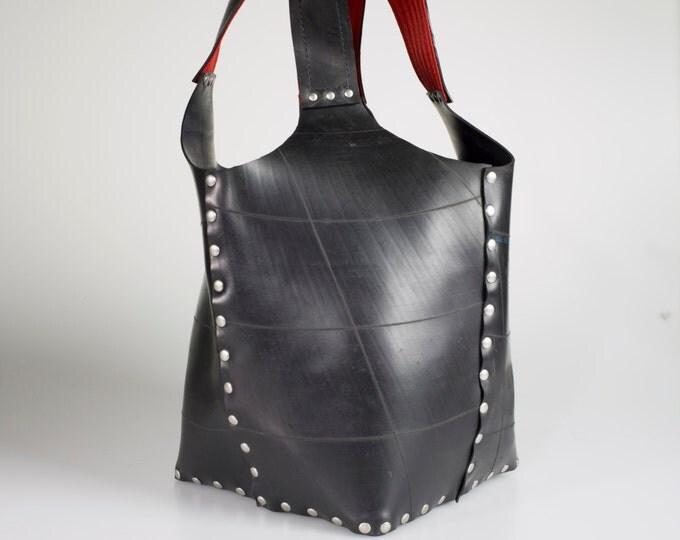 Designer Tote / Shopper: handmade upcycled innertube. Functional, durable, sleek & holds everything!