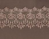 Hand Dyed Venise Lace Heirloom Bliss  Vintage Blush Latte