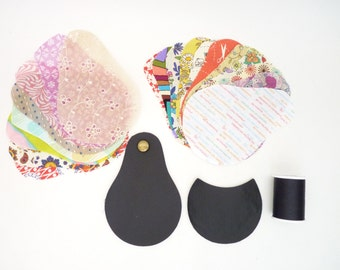 Design Your Own Coin Purse / The Minii Gypsy Vegan Black Faux Leather Coin Purse / Choose Your Modern or Vintage Lining