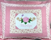 Quilted Pillow Sham for Standard Size Bed Pillow - Personalized Custom Made for You  --  Free Shipping