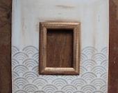5x7 Metallic Distressed Mod Frame in Scallop