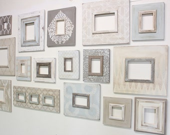 Set of 16 Cottage Chic Gallery Wall Frames