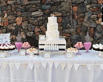 White Garland, Rustic Garland, Country Wedding, Farm House, Boho Garland, Shabby Chic Garland, Cream, Ivory, Burlap, White Fabric Bunting