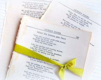 Bundle of Vintage Poetry Pages / Junk Journal