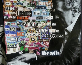 Deftones lyrics collage - This Place Is Death from Diamond Eyes Artistic music collage affordable wall art