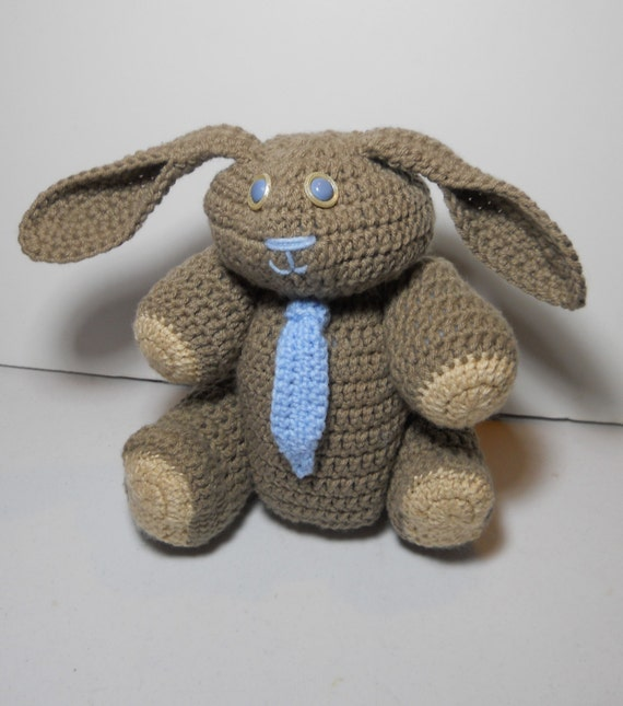Crocheted Bunny rabbit stuffed amigurumi style