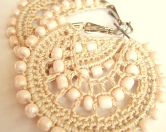 Crocheted hoops and beads