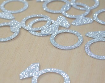 JUMBO Bling Diamond Engagement Ring CONFETTI for bridal showers, bachelorette party, engagement parties and more!