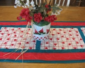 Quilted Watermelon Table Runner