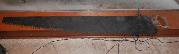 The Cross Cut Saw On A Wall Mount : One man cross cut saw vintage wall hanger or paint