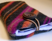 Free US Shipping iPOD, iPHONE case, sleeve.  Made from recycled wool and lined with soft fleece.