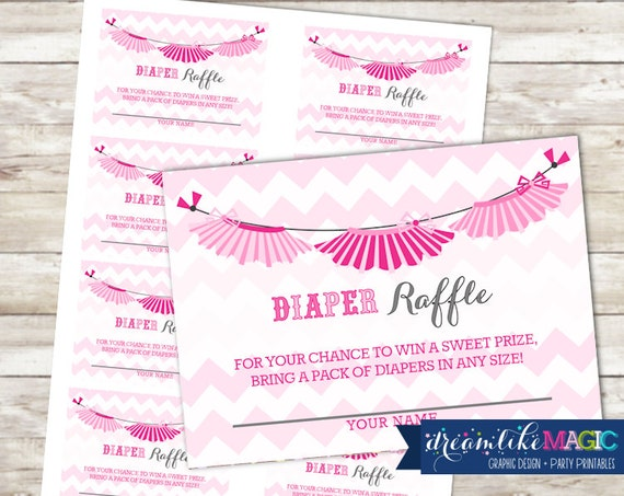 baby shower diaper raffle cards for tutu cute printable pdf, Baby shower invitations
