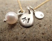 Number 41 Akoya Pearl & Diamond Raindrop Necklace.  Perfect for EVERYDAY.  Great Valentine.