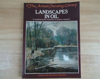 Vintage The Artist's Painting Library - Landscapes in Oil - Instructional Art Book