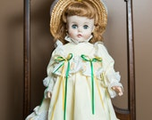 "Vintage 15 inch 1958 MADAME ALEXANDER Rigid Vinyl ""Kelly"" Doll"