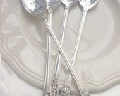 Hand Stamped Vintage Silverplate Ice Cream Spoons - personalized ice cream spoons Blithe Vintage Etsy
