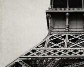 Eiffel Tower Decor, Neutral, Brown, Gray, Architecture Art, Paris Decor, Urban, Industrial, Office Decor
