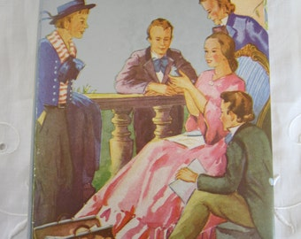 Antique Book Jo's Boys Louisa May Alcott 1925 Colorful Dust Jacket