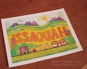 """My Heart Belongs in Issaquah - Camp Smartypants exclusive for So There  8x10"""" or 11x14"""" (CSW901)"""