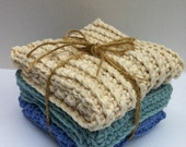 Three Modern Crochet Dish Cloth Patterns Scrubbies Instant Digital Download PDF