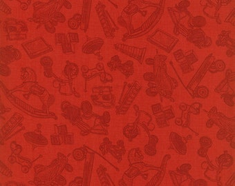 Toys ~ Tone-on-Tone Red ~ RJR Fabrics ~ Where the Toys Are Collection  ~ 1/2 Yard Cut ~ 100% Cotton Fabric ~ 1714-2