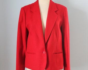 1970s Pendleton wool blazer / 70s red Pendleton jacket