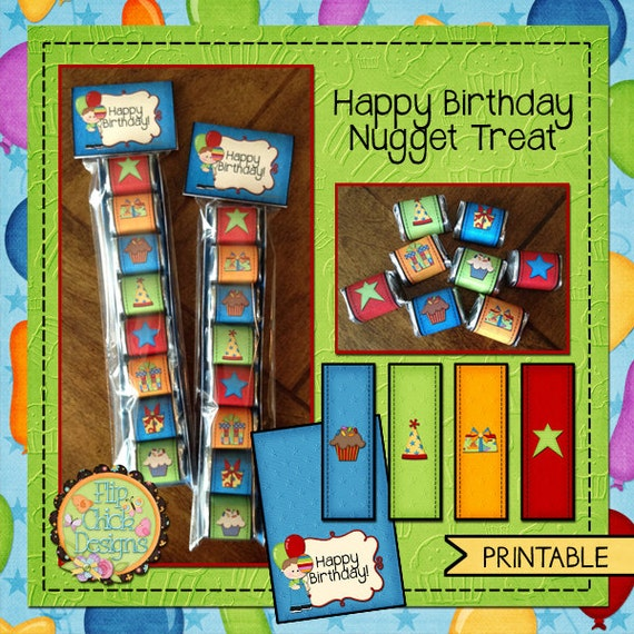 Printable Birthday Nugget Treat Set-Boy