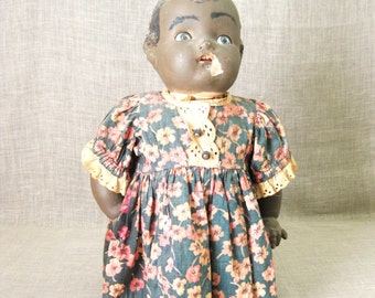 Doll , Folk Art Door Stop , Doll Bottle , Folk Art Doll , Folk Art , Black Americana , African American , Unusual Doll , Handmade Doll