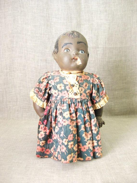 Doll , Folk Art Door Stop , Doll Bottle , Folk Art Doll , Folk Art , Black Americana , African American , Unusual Doll , Handmade Doll