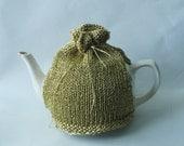 Tea Cosy in Gold Metallic Yarn - Made to Order