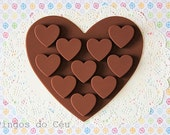 Chocolate Heart Silicone Mold - Candy - Chocolate - Fondant - Polymer Clay - Resin- Soap - Ready to ship
