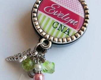 Nurse Badge Reel, Custom Badge Holder, Nurse Gift, Personalized ID Badge, Registered Nurse, Retractable Badge Reel, Gift for Nurses