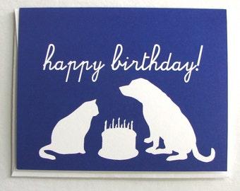 Animal Silhouettes Birthday Card
