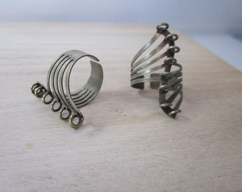 Beaded Ring Finding -- Ring with Loops -- Brass Ring Blank -- Spiral Finding -- Bead Ring Blank -- Finger Ring Finding --Ring Blank Supplies
