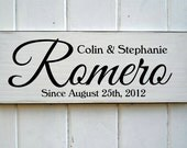 Bespoke Family Name Established Sign Ideal Anniversary Or Wedding Gift In Vintage Style
