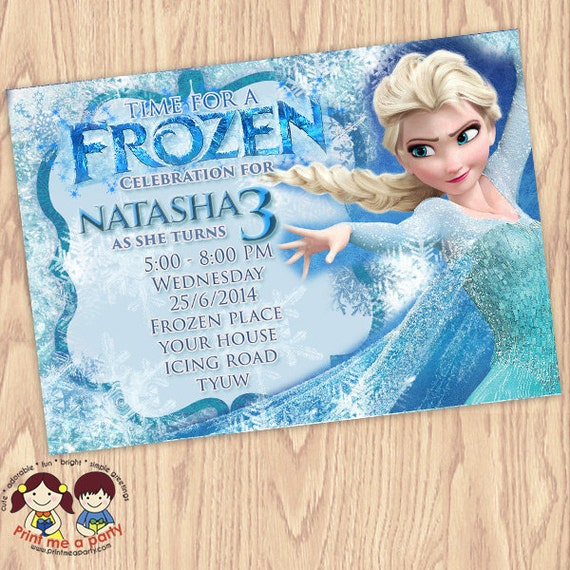 Frozen Birthday Invitation Frozen Birthday Party Frozen Invitation