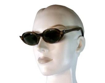 Vintage 1950s unique CAT EYE Eyeglasses Sunglasses Raybert Frame Made in France