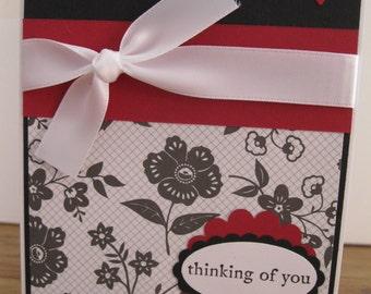 Thinking of you Sympathy handmade greeting Card